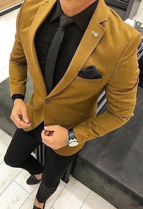 کت شتری وپوشت مردانه من استایل