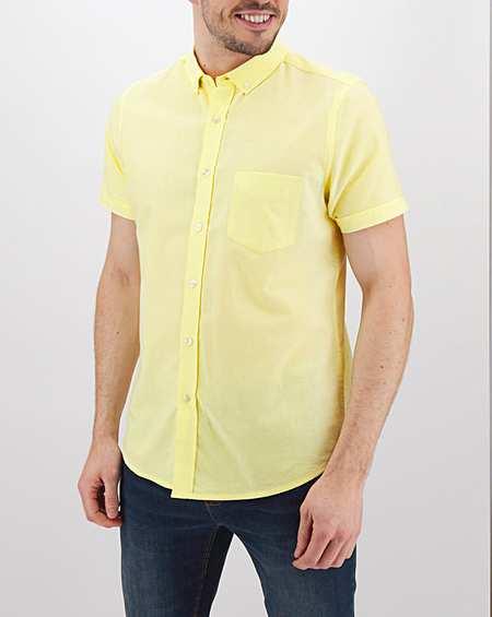 پیراهن آستین کوتاه لیمویی من استایل