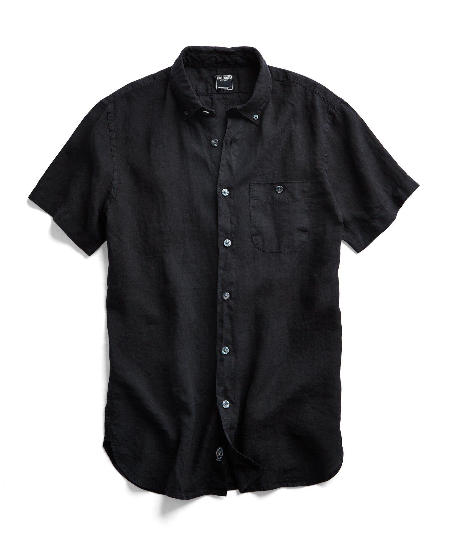پیراهن آستین کوتاه مردانه مشکی من استایل