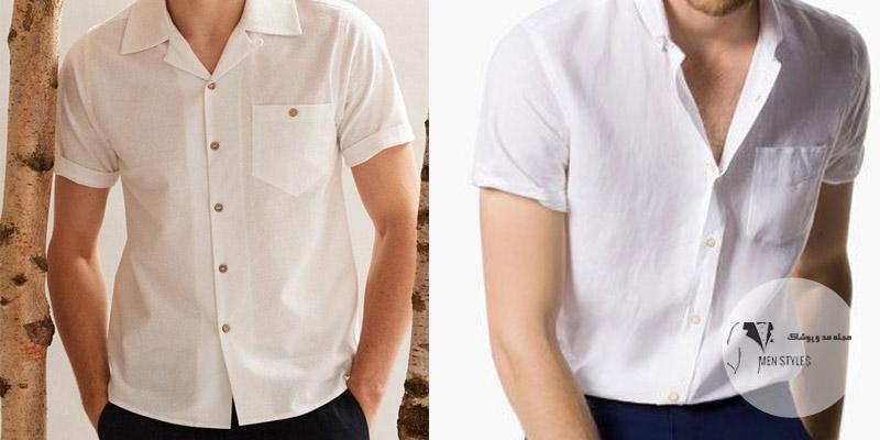 پیراهن آستین کوتاه مردانه من استایل