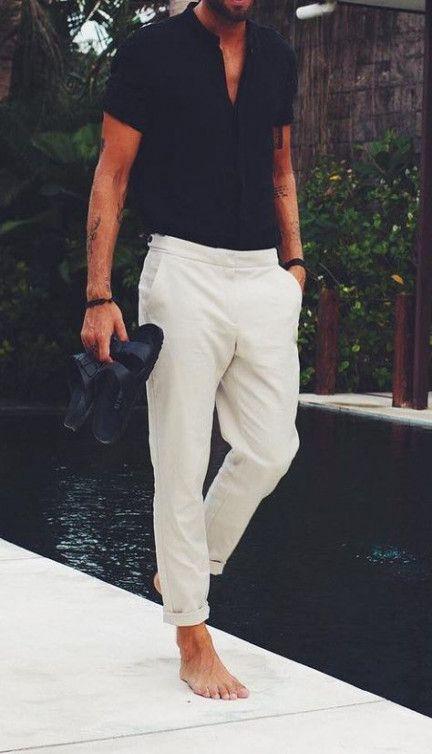 پیراهن آستین کوتاه و شلوار مردانه من استایل